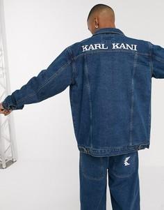 Синяя джинсовая куртка-рубашка Karl Kani-Синий