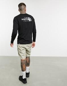 Черная футболка с длинными рукавами The North Face-Черный