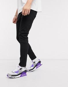 Черные супероблегающие джинсы Bershka-Черный