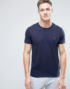 Однотонная футболка с круглым вырезом Polo Ralph Lauren-Темно-синий