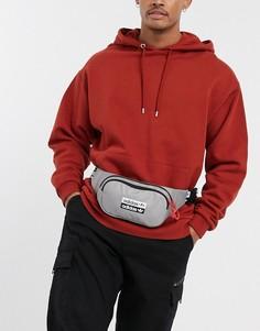 Серая сумка-кошелек на пояс с логотипом adidas Originals-Серый