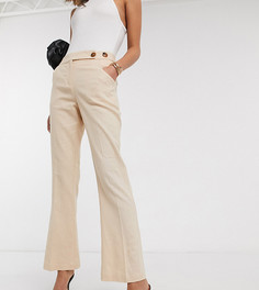 Бежевые льняные брюки клеш Vero Moda Tall-Бежевый