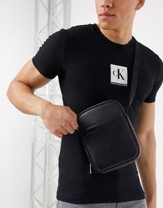 Небольшая сумка с внешним карманом Calvin Klein flex 2-Черный