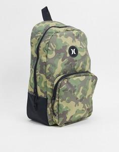 Рюкзак с камуфляжным принтом Hurley-Зеленый