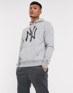 Худи серого цвета с логотипом New Era MLB New York Yankees-Серый