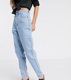 Ярко-голубые свободные джинсы бойфренда ASOS DESIGN Tall-Синий