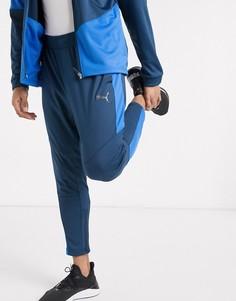 Синие джоггеры в стиле колор блок Puma-Синий