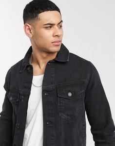 Черная джинсовая куртка Burton Menswear-Черный