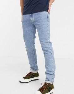 Голубые узкие джинсы в стиле милитари Calvin Klein Jeans-Синий