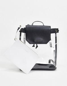 Прозрачный рюкзак с кошельком Ted Baker-Черный