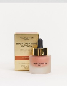 Жидкий хайлайтер Revolution Pro - Highlighting Potion (Molten Amber)-Золотой