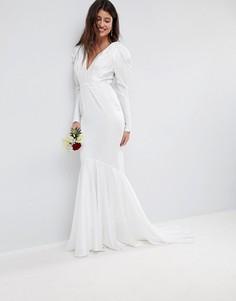Свадебное платье ASOS EDITION-Белый
