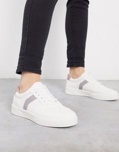 Белые кроссовки с лавандовыми вставками Topshop-Фиолетовый