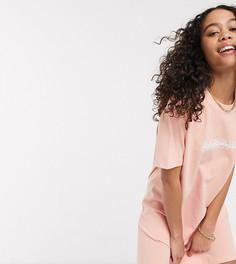 Розовое платье-футболка Napapijri эксклюзивно для ASOS-Розовый