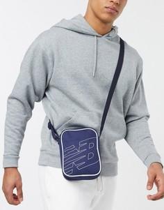 Темно-синяя сумка через плечо New Balance-Темно-синий