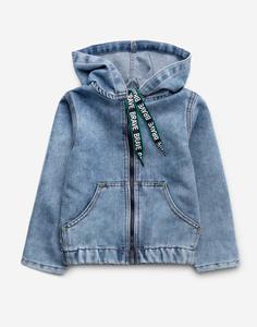 Джинсовая куртка с динозавром для мальчика Gloria Jeans