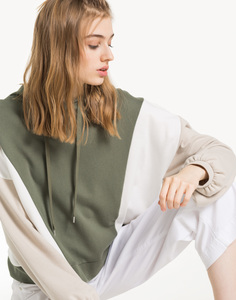 Свободное разноцветное худи Gloria Jeans