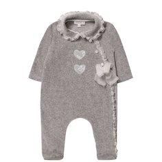 Пижамы Aletta Хлопковая пижама с оборками и бантом Aletta
