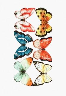 Наклейка декоративная Galerys Большие акварельные бабочки, 110*55 см