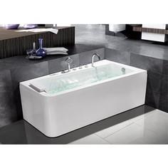 Акриловая ванна Grossman 170x95 с каркасом, гидромассажная, правая (GR-17095R)