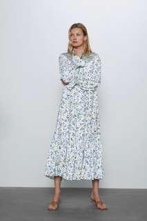 Платье в стиле рустик с принтом Zara