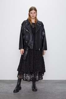 Байкерская куртка в стиле oversize Zara