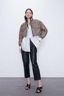 Стеганая куртка с леопардовым принтом Zara