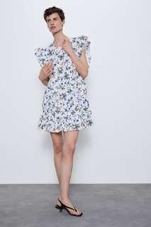 Платье с ажурной вышивкой Zara