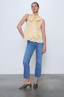 Блуза с бантом и воланами Zara