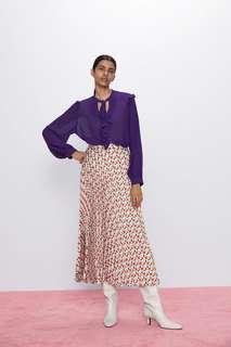 Блуза с воланами и плиссировкой Zara