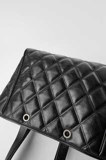 Стеганая сумка-шопер с сумкой кроссбоди Zara
