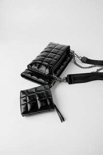 Стеганая сумка с кошельком «3 в 1» Zara