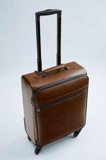 Коричневый чемодан для ручной клади Zara