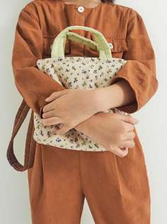 Сумка-шопер мини-формата с принтом Zara