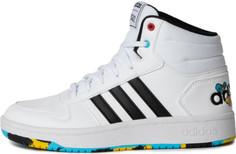 Кеды высокие детские Adidas Hoops Mid 2.0, размер 36.5