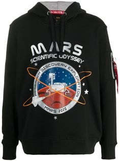 Alpha Industries худи с принтом Mars 2020