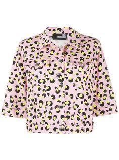 Love Moschino укороченная куртка с леопардовым принтом
