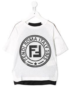 Fendi Kids футболка с логотипом FF