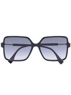 Fendi Eyewear солнцезащитные очки в квадратной оправе с затемненными линзами