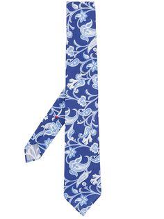 Delloglio галстук с узором пейсли Delloglio