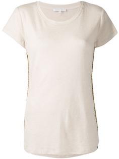 Patrizia Pepe embellished stripe T-shirt