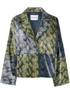 STAND STUDIO куртка оверсайз со змеиным принтом