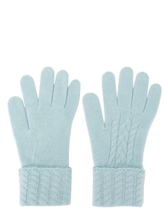 N.Peal кашемировые перчатки фактурной вязки