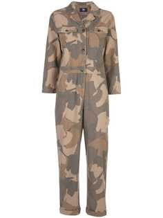 Wood Wood Irene camouflage print boiler suit