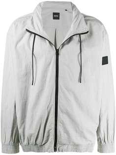 BOSS куртка на молнии с нашивкой-логотипом