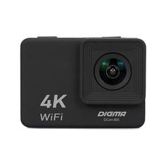 Экшн-камера DIGMA DiCam 800 4K, WiFi, черный [dc800]