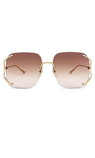 Солнцезащитные очки rectangle fork - Gucci