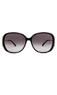 Солнцезащитные очки square fork - Gucci
