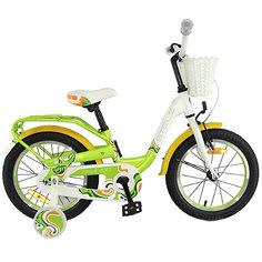 Двухколесный велосипед Stels Pilot-190 18 дюймов, зеленый/желтый/белый