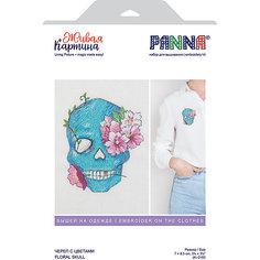 """Набор для вышивания PANNA """"Живая картина. Череп с цветами"""""""
